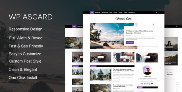 Wp Asgard - Bootstrap 4 Blog Template