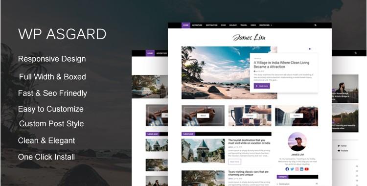 Wp Asgard - Bootstrap 4 Blog Template