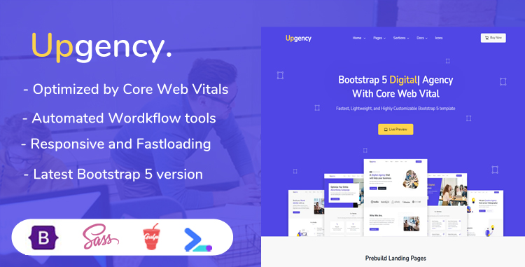 Upgency - Bootstrap 5 Template Agency