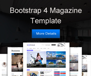 bootstrap news template